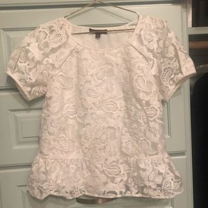 Marchesa Tops - White lace blouse